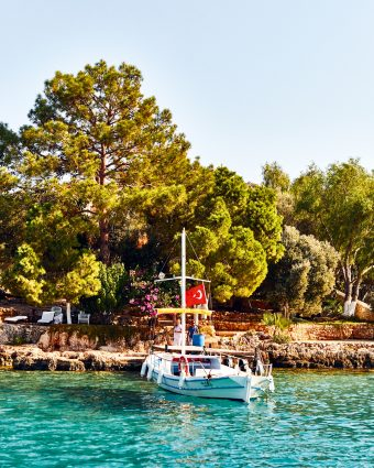 A blissful anchorage in the turquoise water of Kas. Photo by Olivier Pilcher.