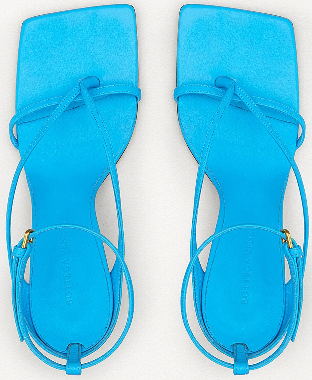 Sandals in Sky Blue Nappa Dream by Bottega Veneta