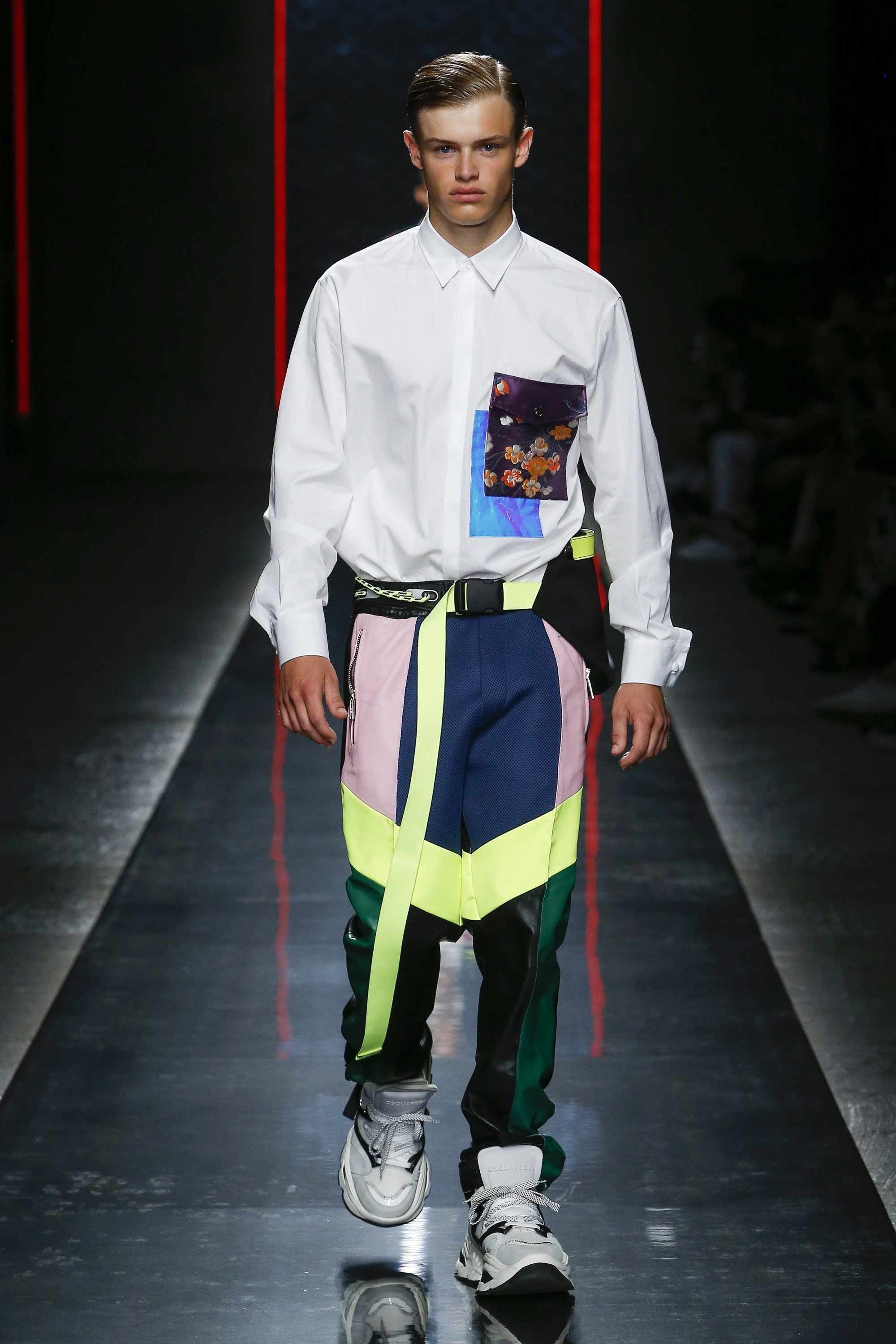 DSquared2 Spring 2019 Runway unexpected shirting trend
