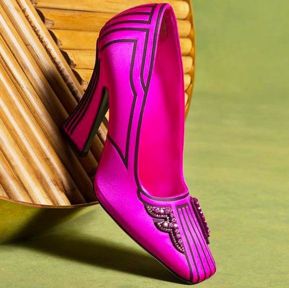 Pumps in Fuchsia Satin by Fendi