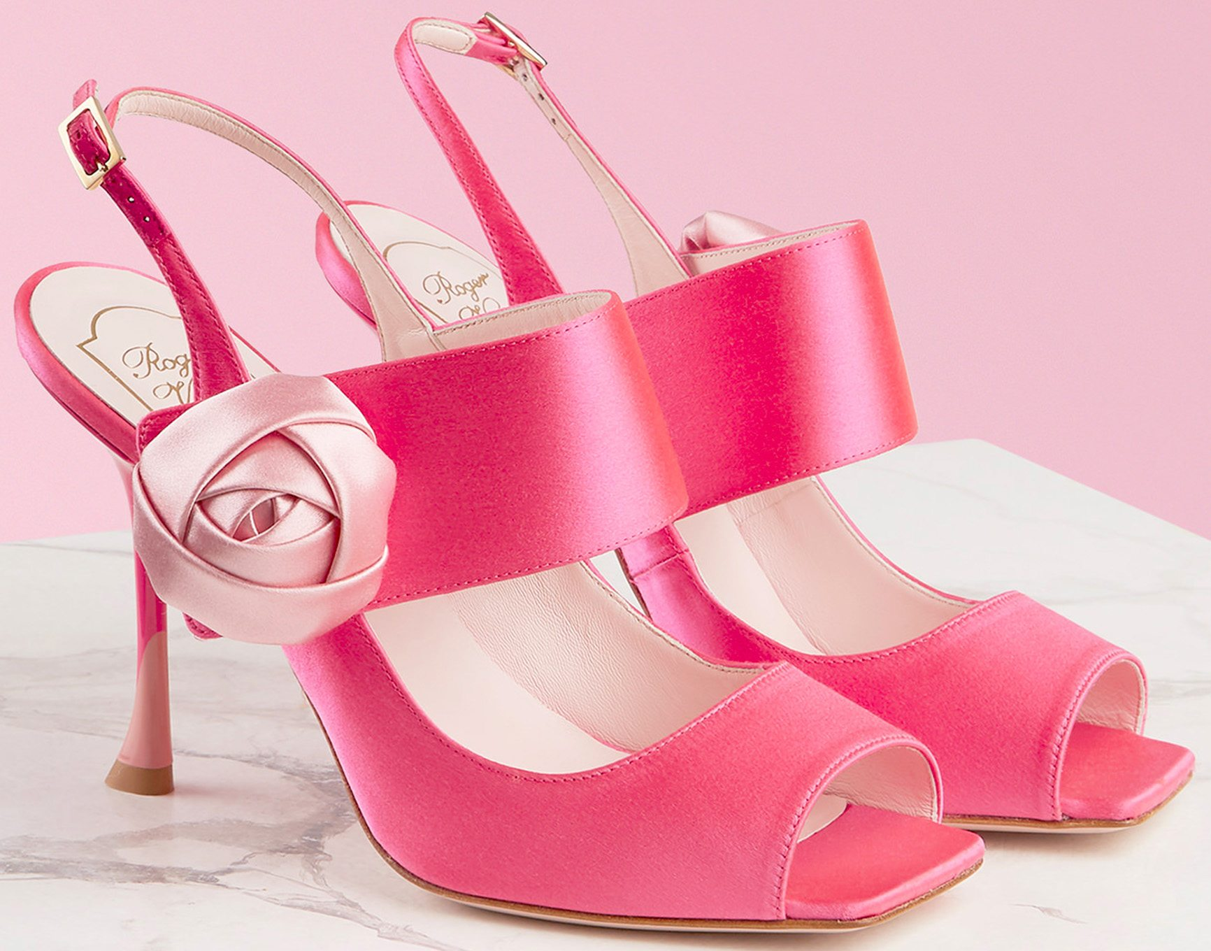Rose Button Sandals by Roger Vivier