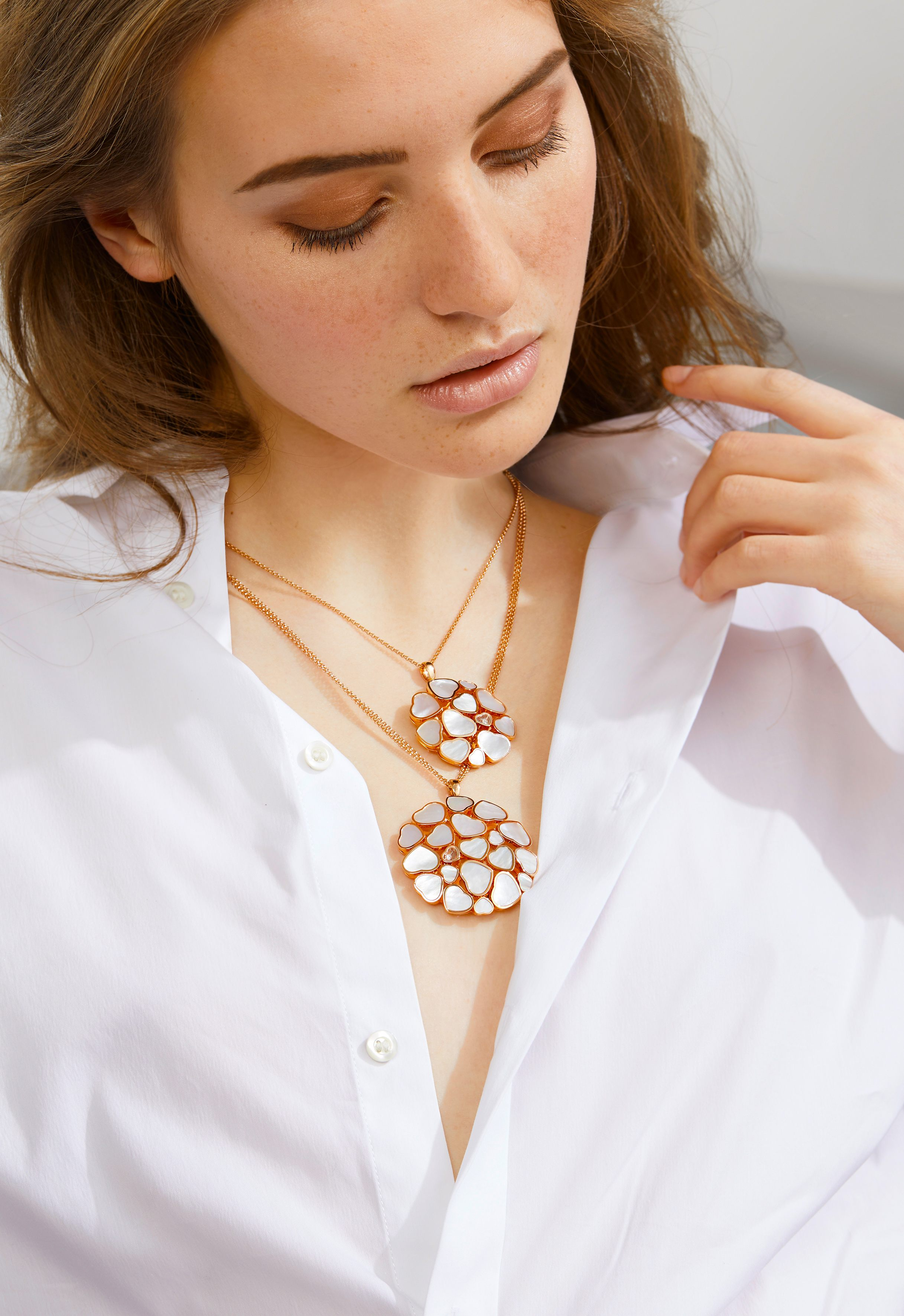 Chopard Happy Hearts Necklace in Rose Gold