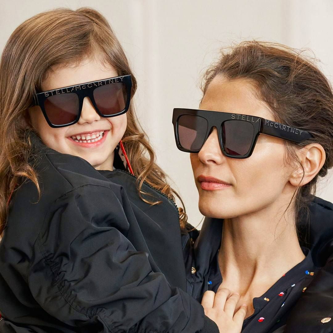 Mother & Daughter Black sunglasses by Stella McCartney