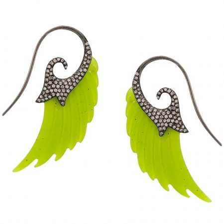 Noor Fares Jade Fly Me to the Moon Earrings available at The Webster Bal Harbour