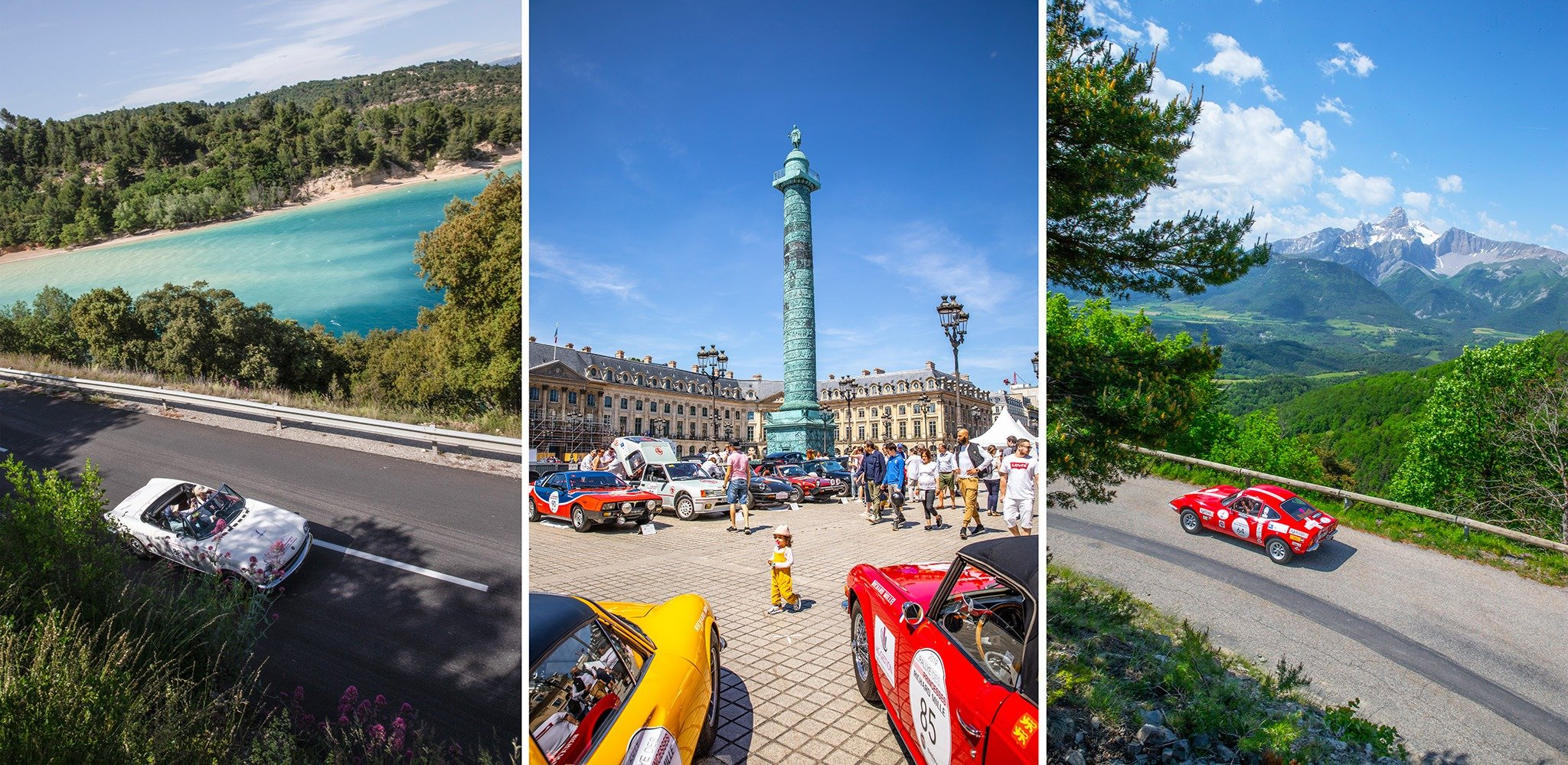 The route took the competitors on a five-day adventure through 1,700 kilometers of French countryside from Place Vendome in Paris to Saint Tropez via overnight halts in Saint Aignan, Vichy, Aix-les-Bains and Saint Tropez.