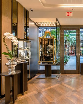 Lucrezia Buccellati, the first female to assume the role of designer for Buccellati after four generations of leadership by men in her family beside the Buccellati Bal Harbour boutique.