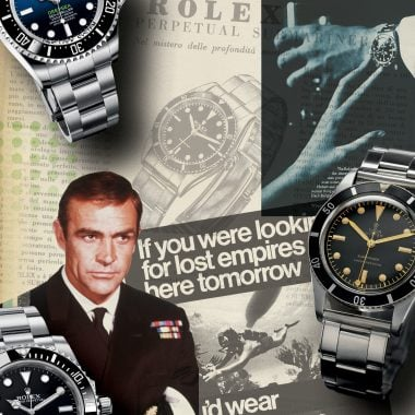 All titles are courtesy Rizzoli International Publications, ©2019 Sea Time by Aaron Sigmond and Mark Bernardo, Rizzoli New York, Collage created for SEA TIME: WATCHES by Lucas Irwin.