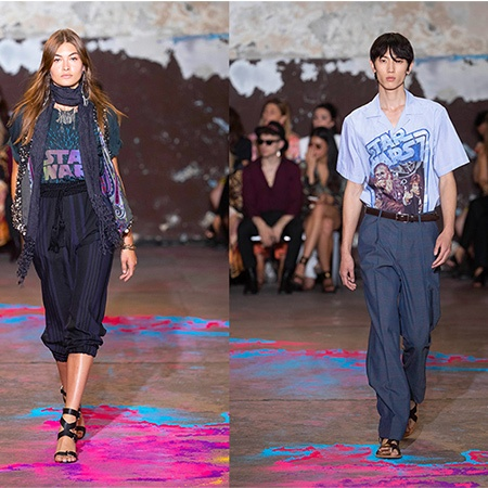 Runway looks from the ETRO X STAR WARS Capsule Collection.