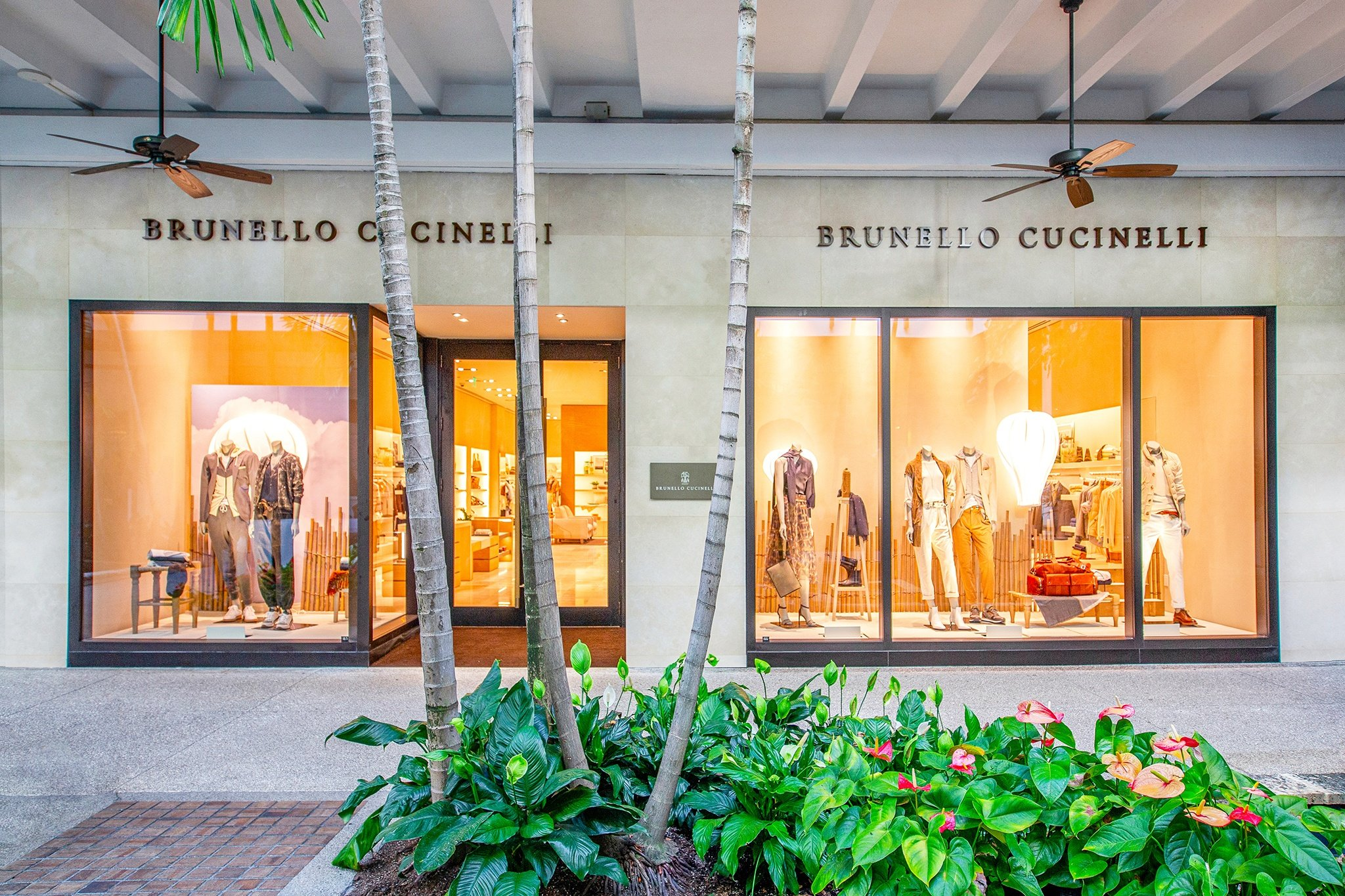 Outside the newly opened Brunello Cucinelli Bal Harbour boutique on Level 1.