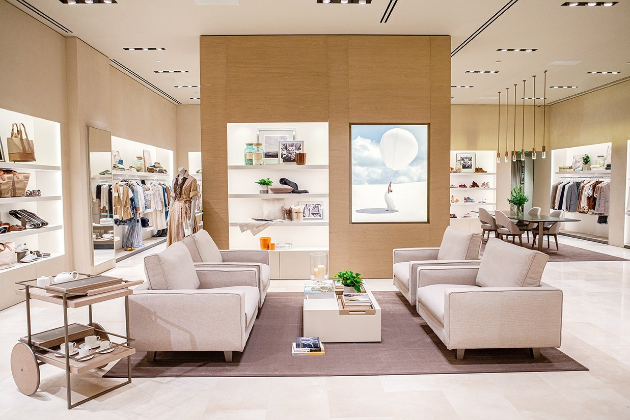 Inside the newly opened Brunello Cucinelli Bal Harbour.