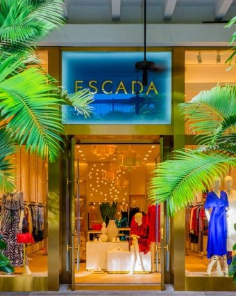 Outside the newly opened ESCADA Bal Harbour boutique on Level 2.