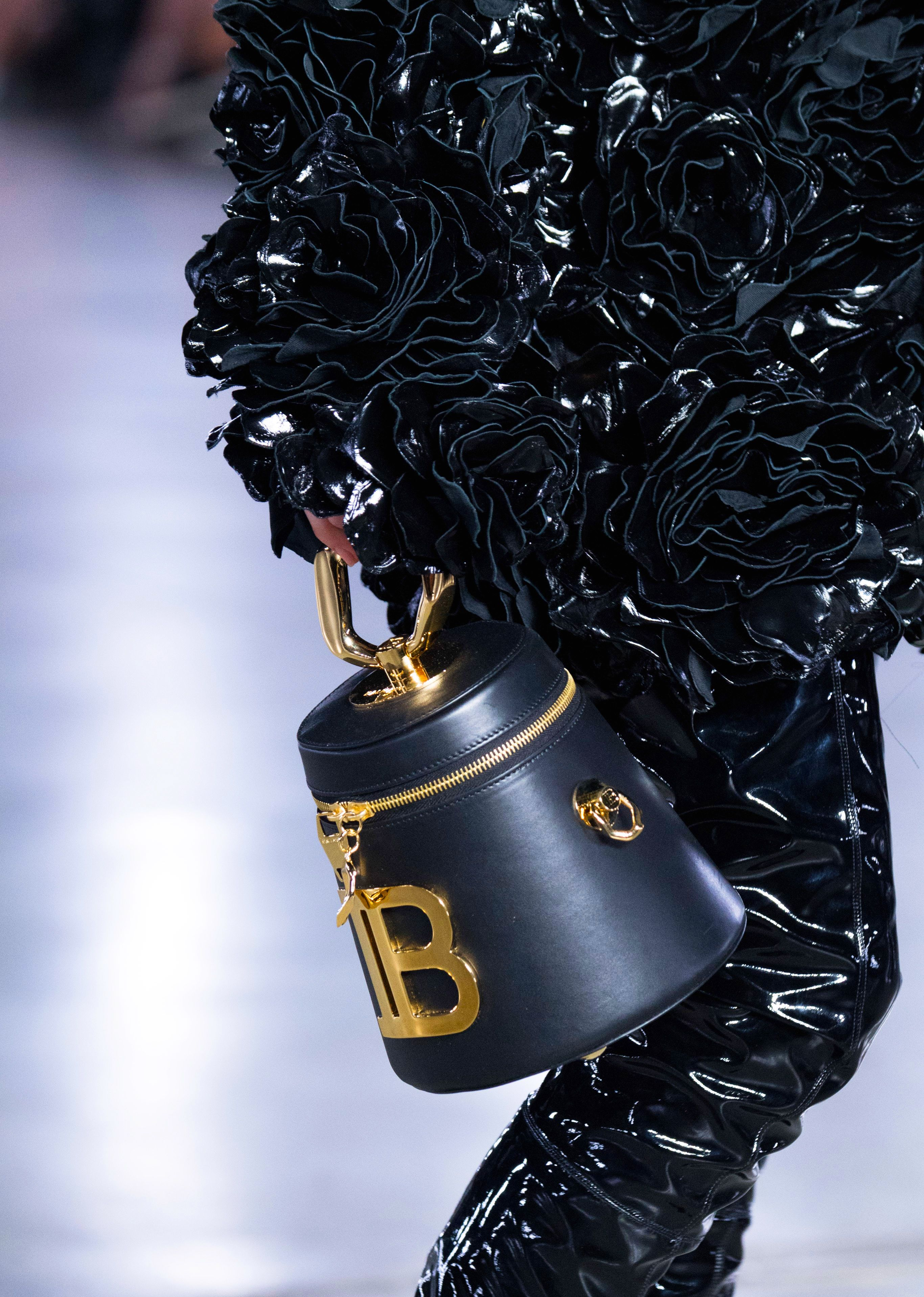 Balmain black Romeo bag from the Fall 2019 Runway Collection