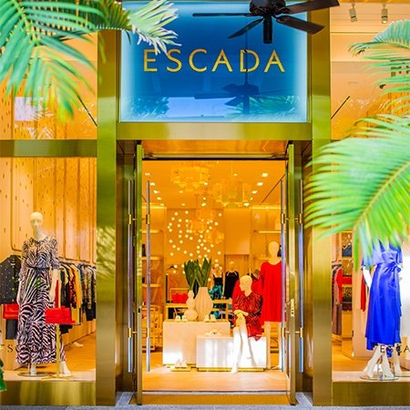 Outside the newly opened Escada Bal Harbour boutique on Level 2