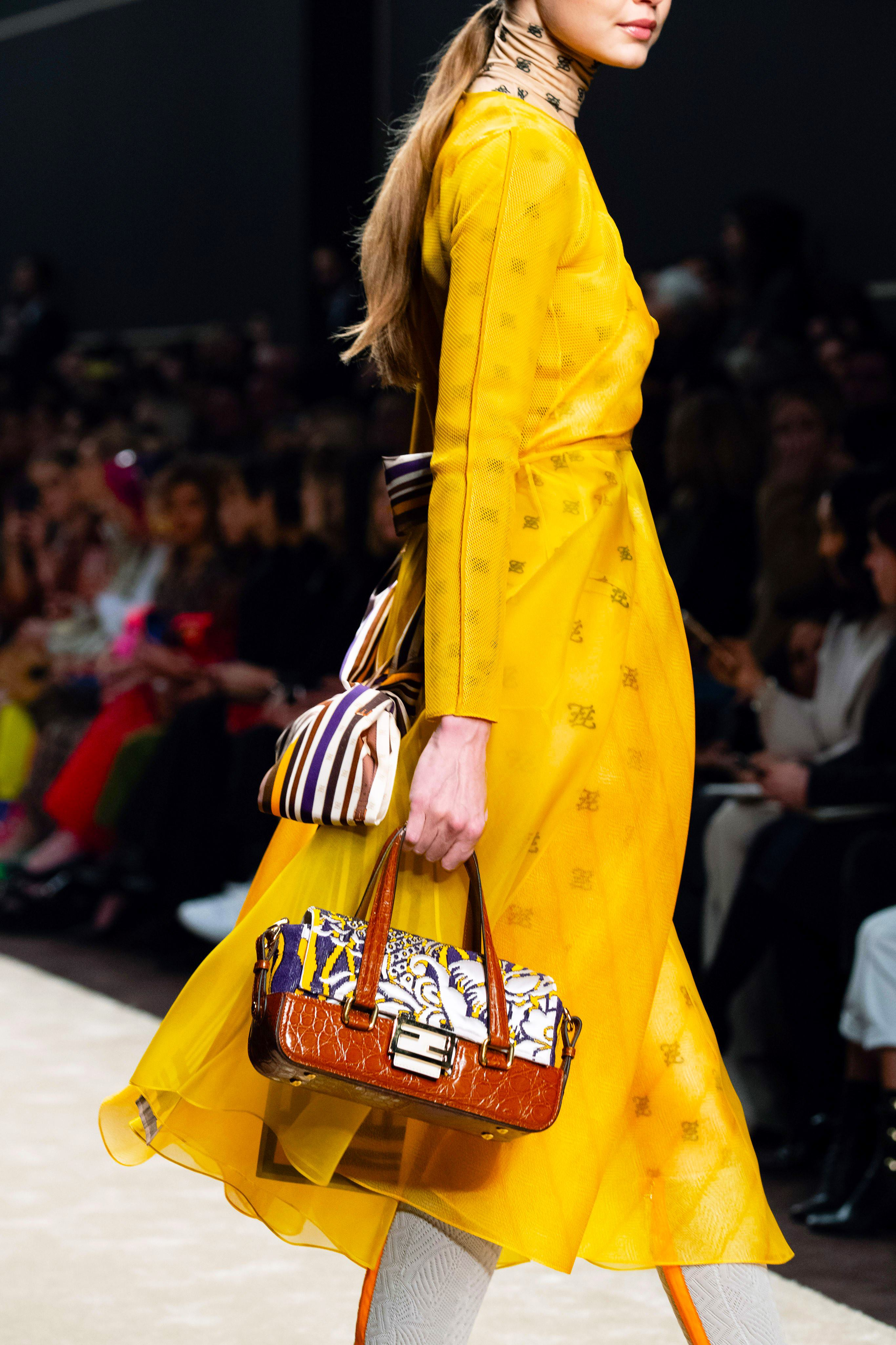 Printed Fendi Baguette Bag from the Fall 2019 Runway Bag Collection