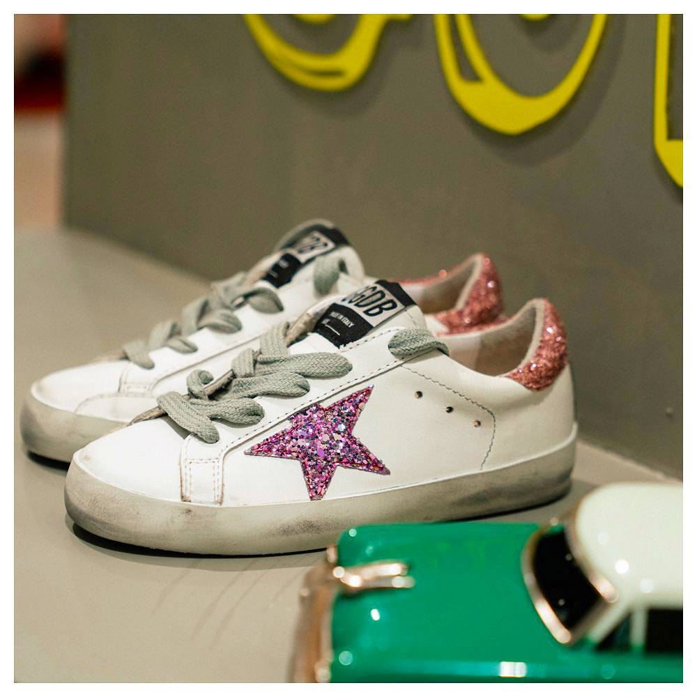 Golden Goose Deluxe Brand Superstar sneakers with glitter star and heel tab
