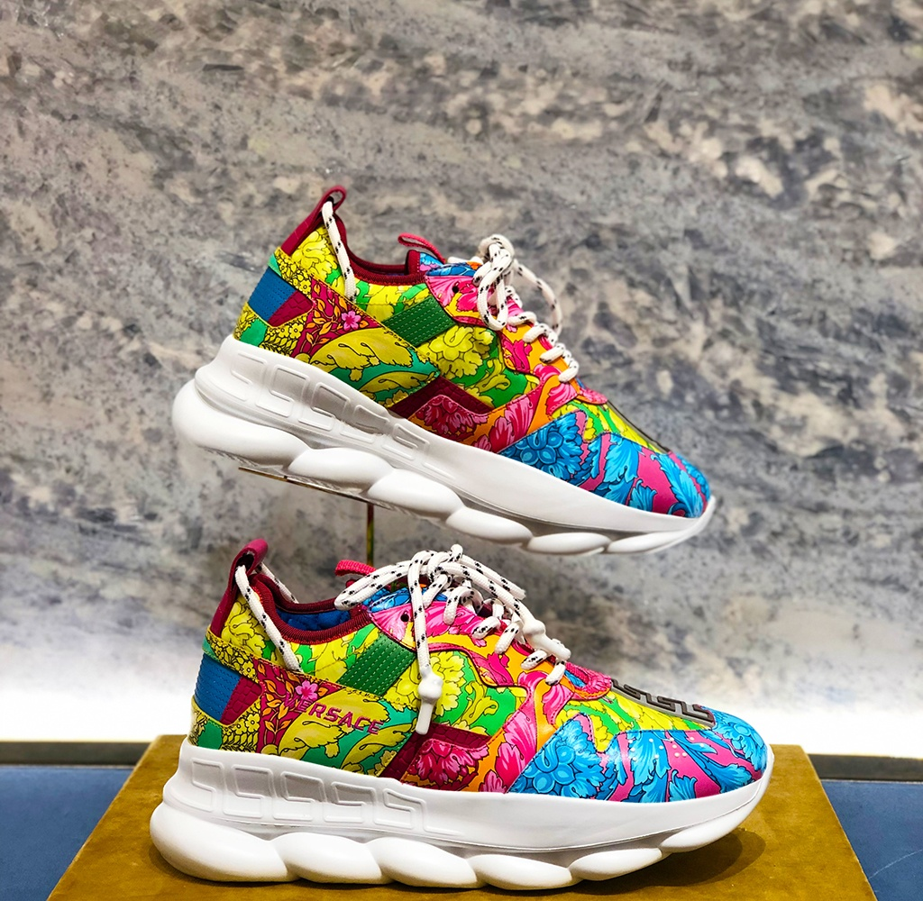 Versace Chain Reaction Printed Sneakers