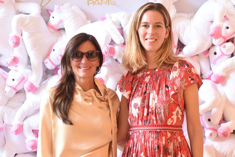 Sarah Harrelson Editor in Chief of Bal Harbour Magazine and Marie Ecot Director of Public Relations at Roger Vivier