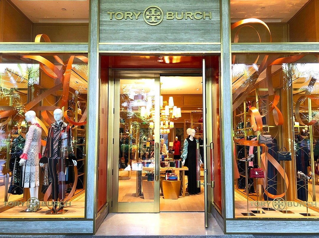 Outside the newly opened Tory Burch Bal Harbour on Level 2