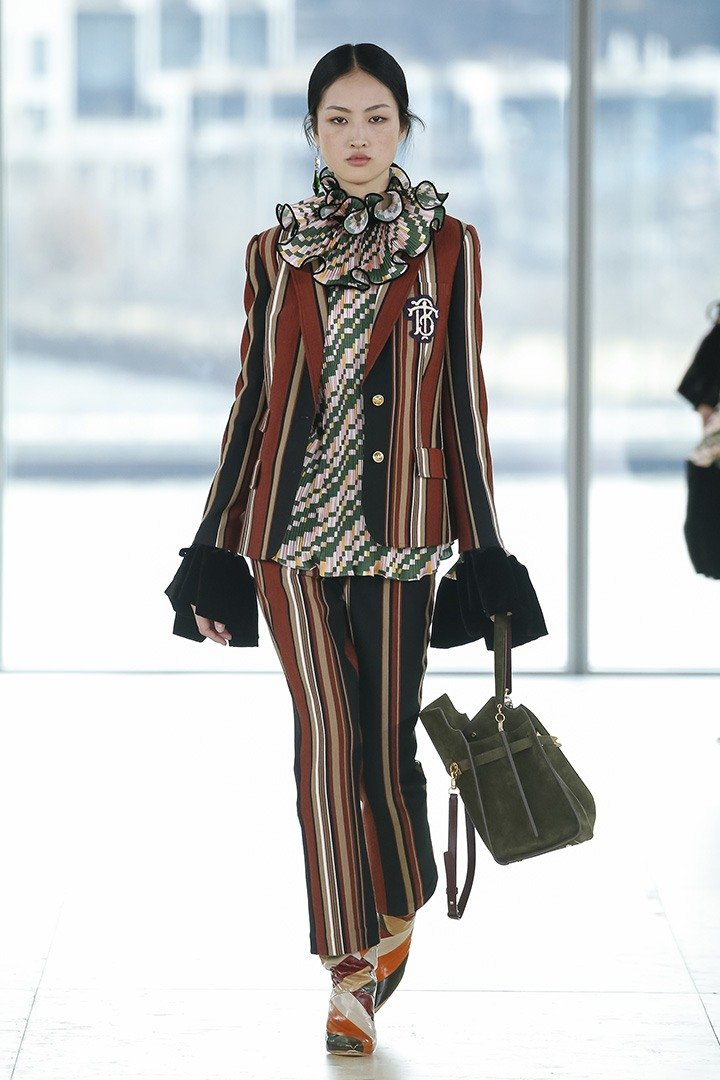 Tory Burch Fall Winter 2019 Runway collection.
