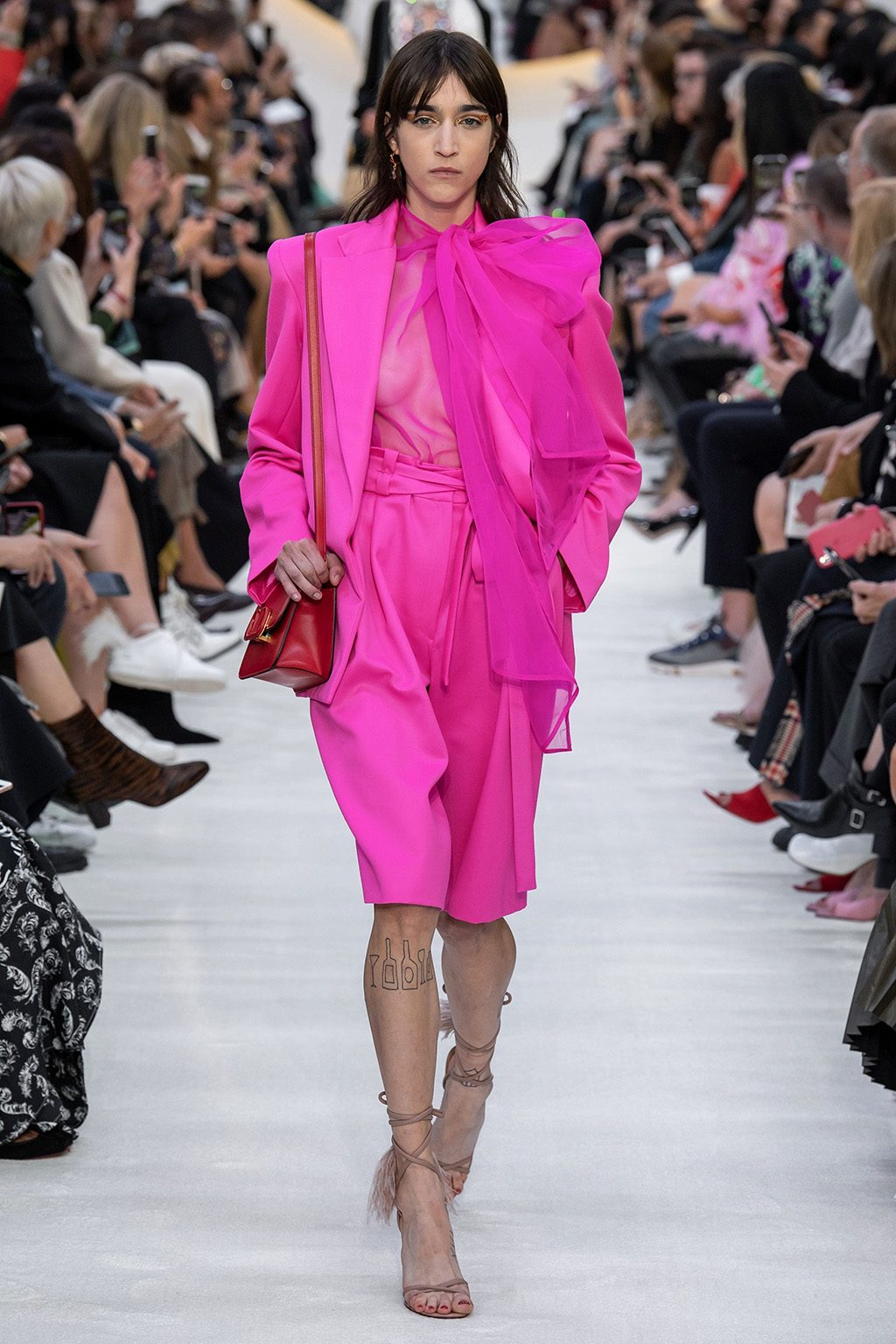 Valentino Runway Hot Pink Blazer and Culotte