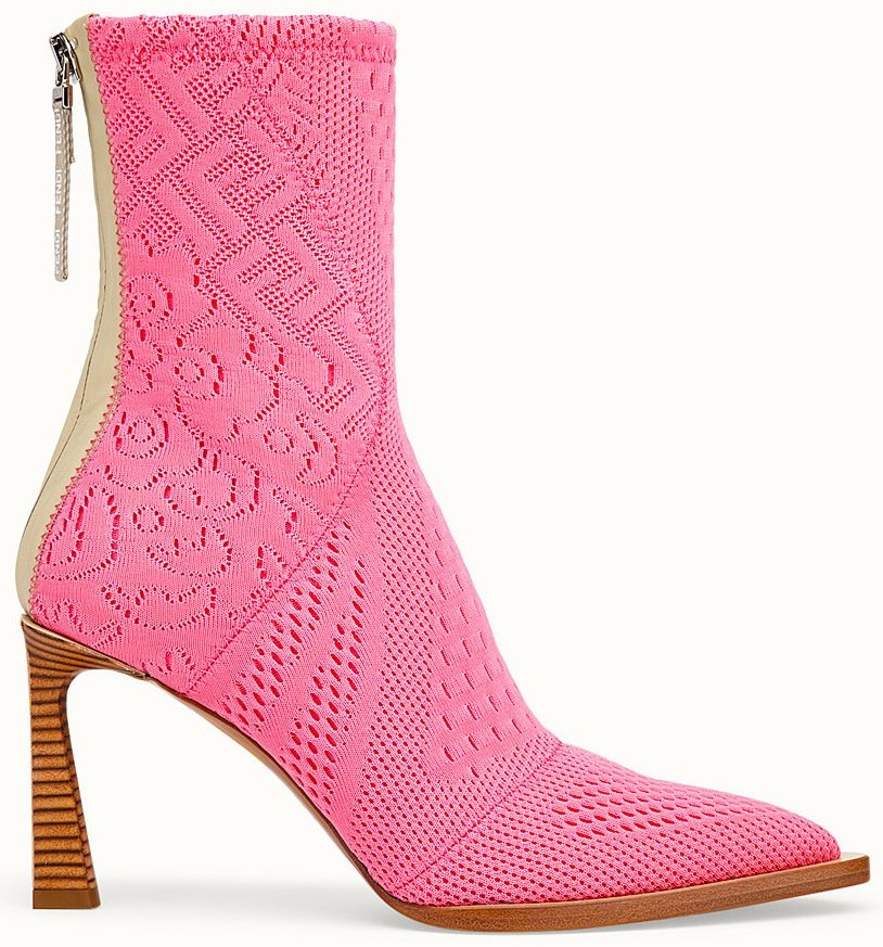 Fendi Ankle Boot in Pink