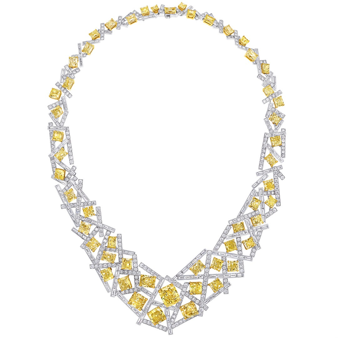 Graff Threads Yellow & White Diamond Necklace