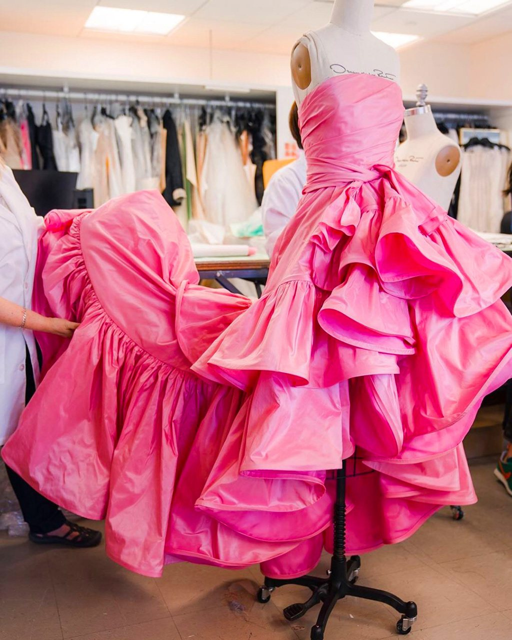 Oscar de la Renta Spring 2020 Runway gown at the brand's atelier.