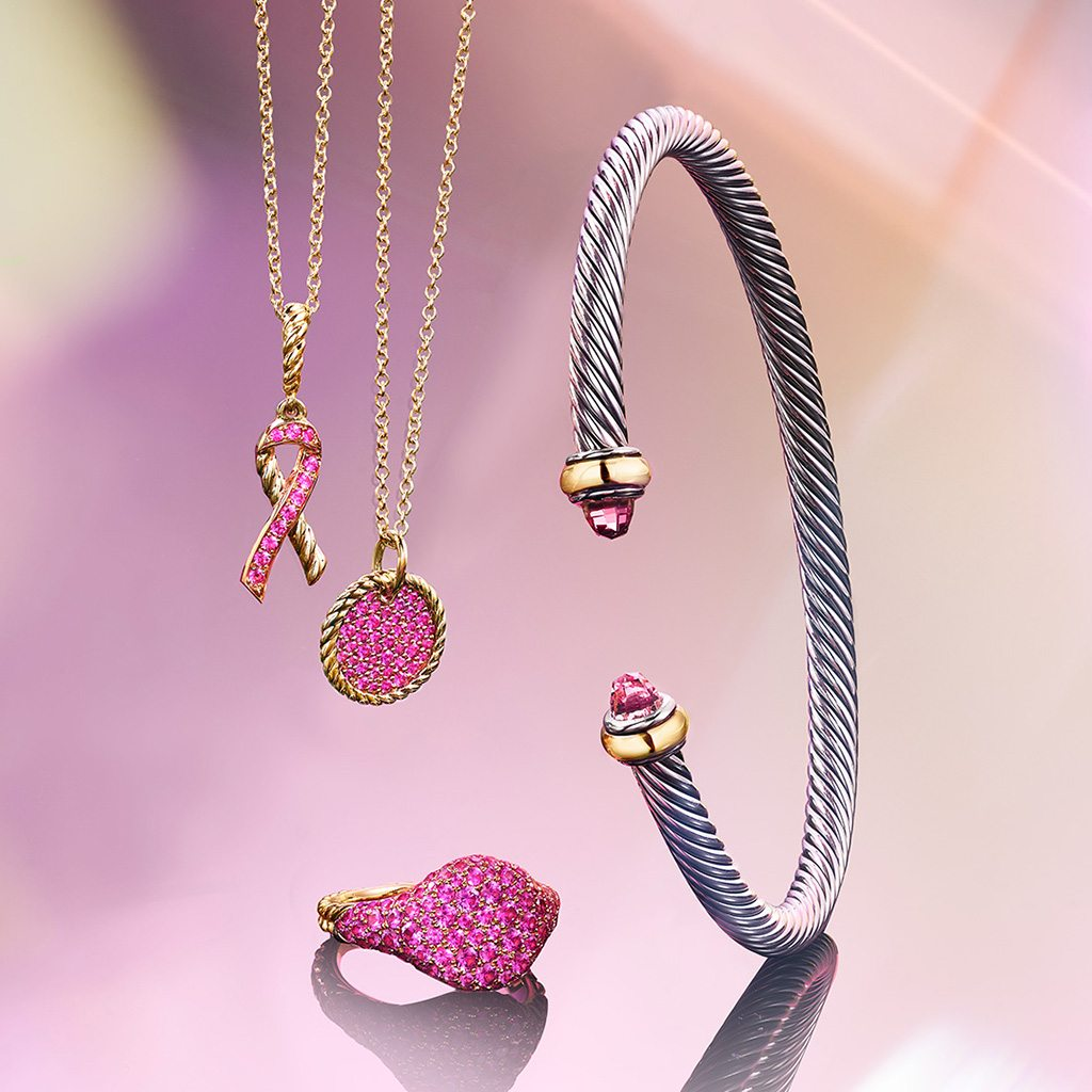 Pink designs created to help support the Breast Cancer Research Foundation®