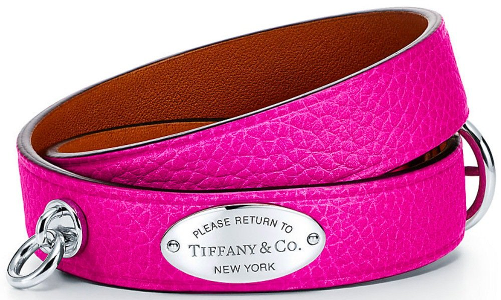 Tiffany & Co. Narrow Leather Wrap Bracelet from the Return to Tiffany Collection