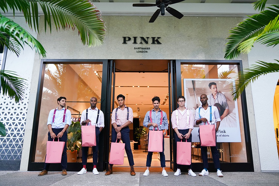 PINK Shirtmaker London models during Collectors Weekend 2019