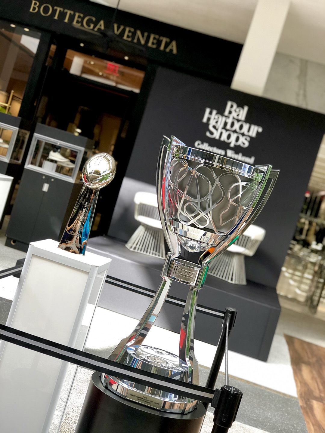 Vince Lombardy Trophy and Monster Energy NASCAR Cup Series Championship Trophy