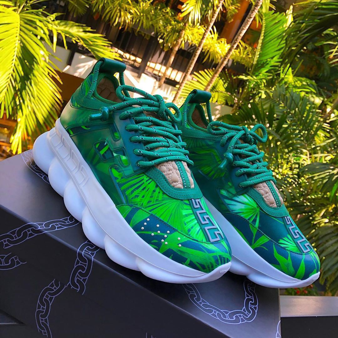 Versace Jungle Print Chain Reaction Sneaker