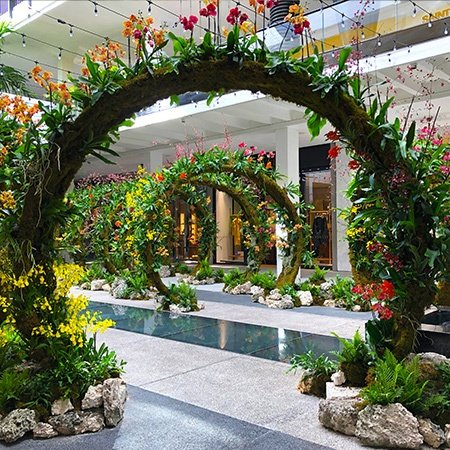 Moongates Landscape Art Installation in Center Courtyard of Bal Harbour Shops