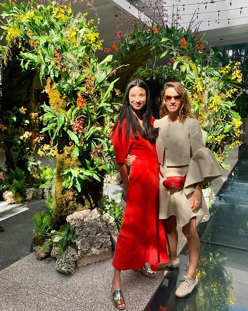 Creater of 'Moongates' Lily Kwong and friend Arme De Lamour