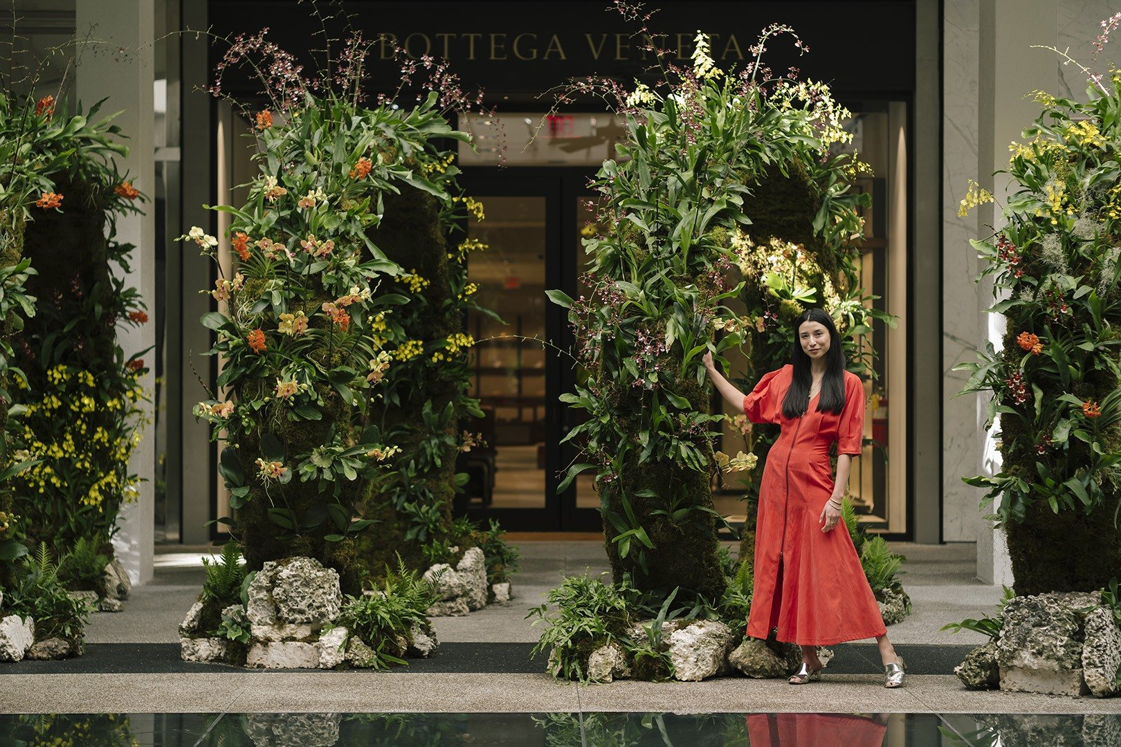 'Moongates' Landscape Art Installation at Bal Harbour Shops by Lily Kwong. Photograph by Gesi Schilling