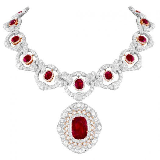 Van Cleef & Arpels-Rubis Flamboyant Transformable Necklace and Ring