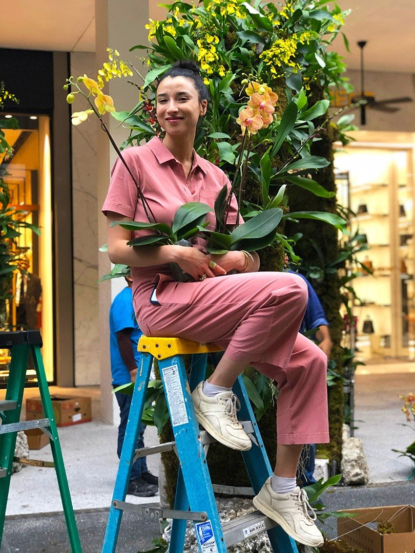 Artist Lily Kwong transforms Bal Harbour Shops into a spectacular floral landscape