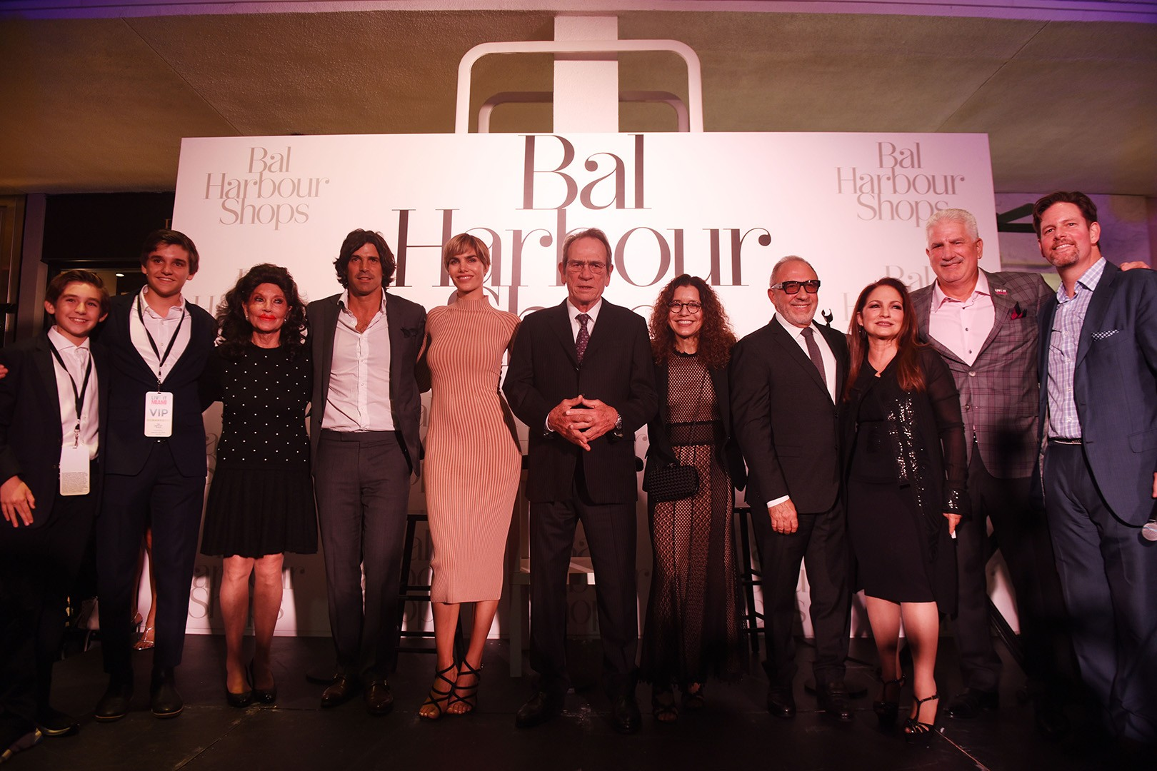 Austin Sayfie Aagaard, Anders Sayfie Aagaard, Christine E. Lynn, Nacho Figueras, Delfina Blaquier, Tommy Lee Jones, Dawn Jones, Emilio Estefan, Gloria Estefan, Rodney Barreto and Matthew Whitman Lazenby
