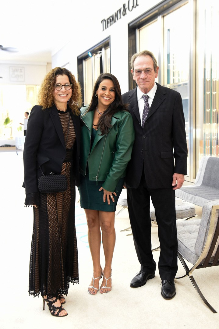 Dawn Jones, Stephanie Sayfie Aagaard and Tommy Lee Jones