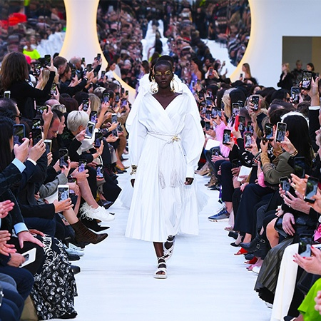 The SS20 Valentino Runway featuring the Le Blanc capsule collection pieces