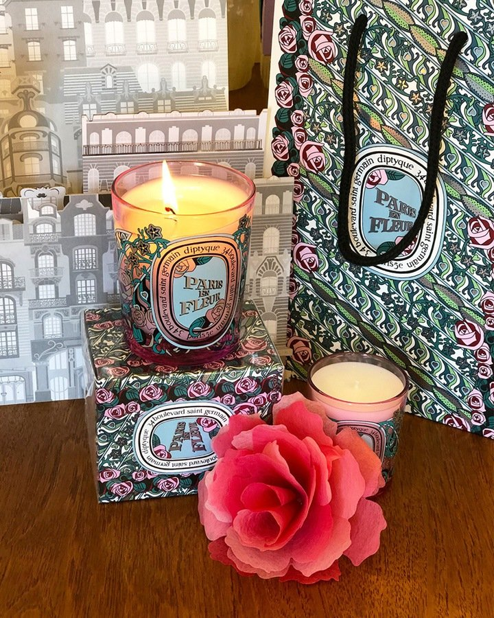 Limited edition Diptyque Valentine's Day candle