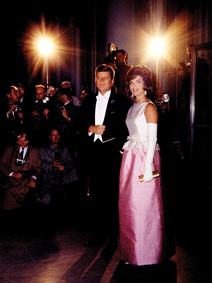 President John F. Kennedy and First Lady Jacqueline Kennedy. Photographed by © Steve Shapiro.