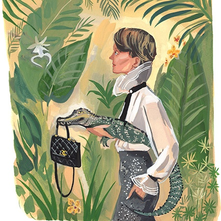 Jenny Kroik's exclusive cover for Bal Harbour magazine, Anja at Bal Harbour, with Ghost Orchid
