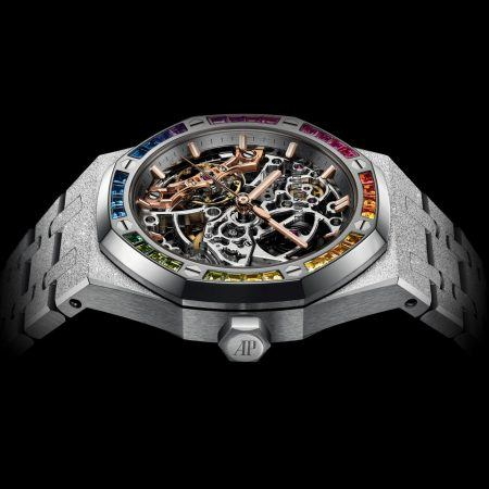 Royal Oak Frosted gold balance wheel openworked timepiece