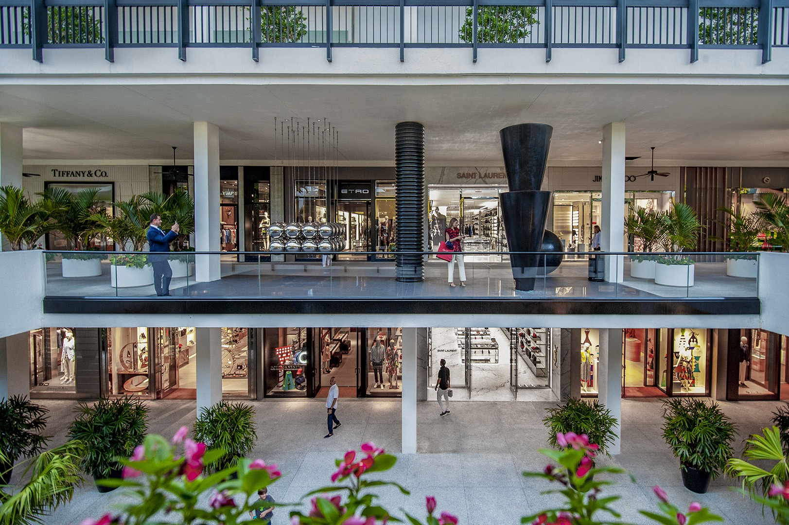Center Courtyard of Bal Harbour Shops