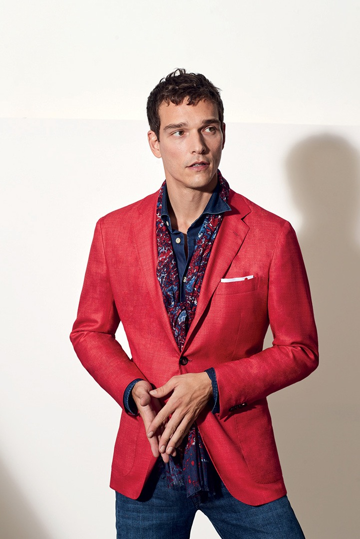 Kiton Summer 2020 Men's Red Suit Jacket and Pant