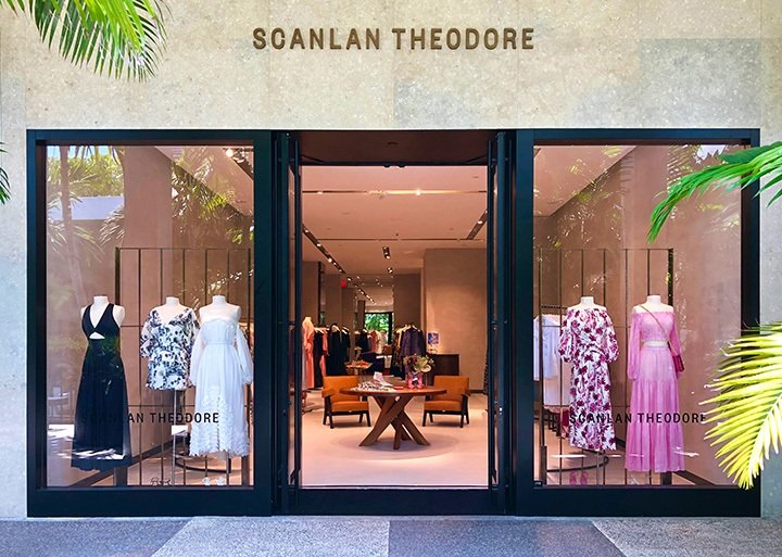 Outside Scanlan Theodore Bal Harbour's new storefront