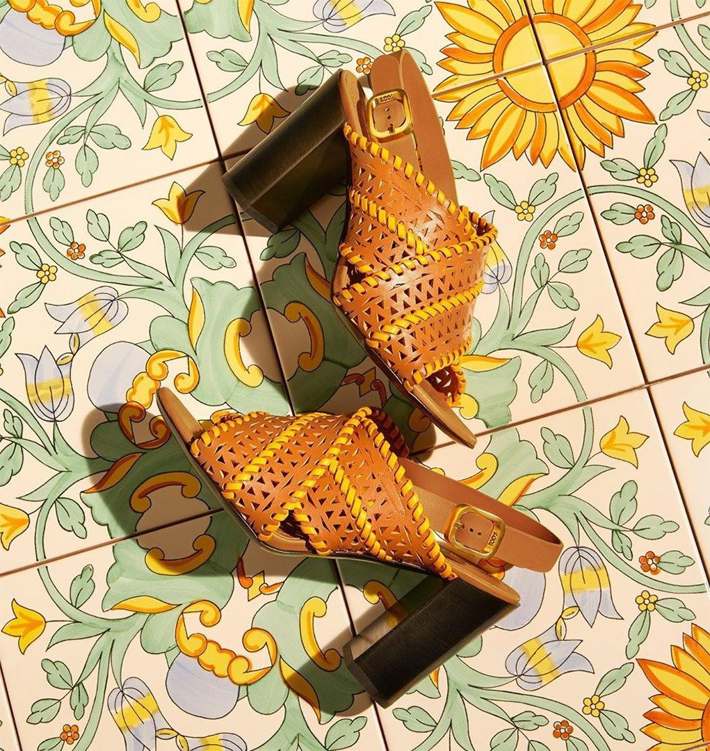 Tod's Sandals in Leather in Orange