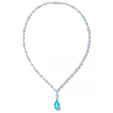 Tiffany & Co. Blue Cuprian Pendant Necklace