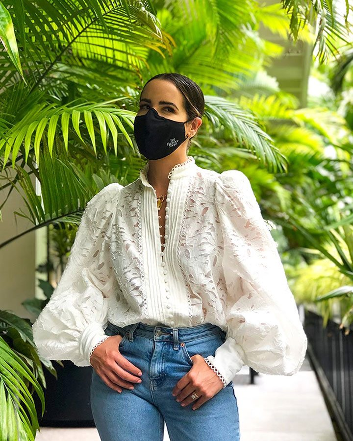 Bal Harbour Shops Mask as seen on stylist and fashion blogger Kelly Saks